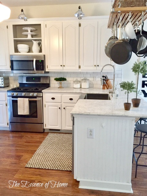 The essence of home kitchen makeover reveal for Odd size kitchen sinks