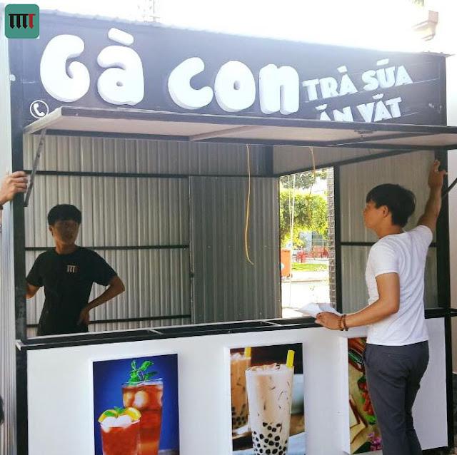 Xe cafe trà sữa rẻ đẹp Bình Dương, Đồng Nai, TPHCM