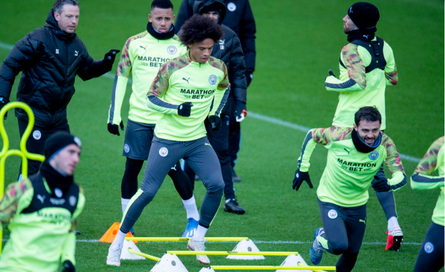 Leroy Sane in first team training