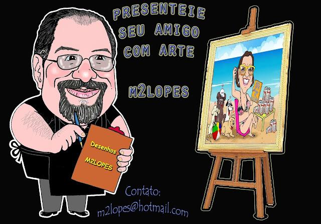 Presente com arte M2LOPES