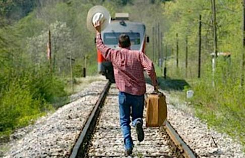 Image result for train left station