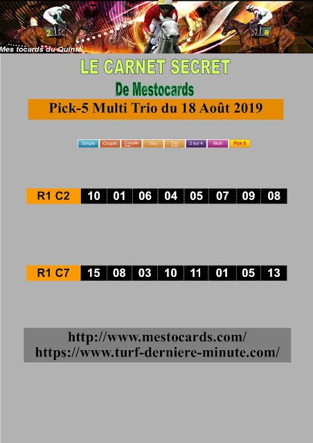 Pronostic pmu demain pick 5