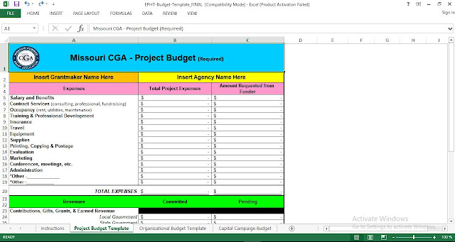 Download Project Budget Template Excel Free