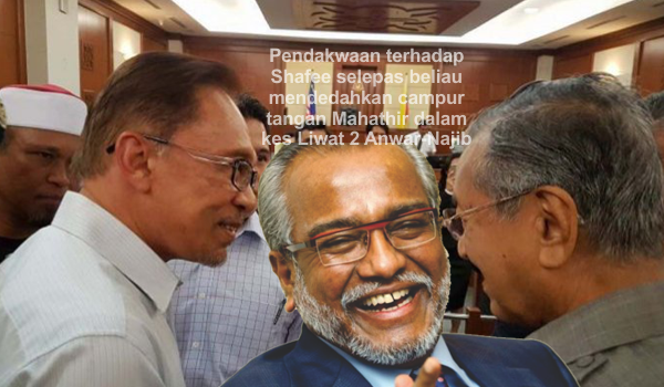 Pendakwaan terhadap Shafee selepas beliau mendedahkan campurtangan Mahathir dalam kes Liwat 2 Anwar - Najib