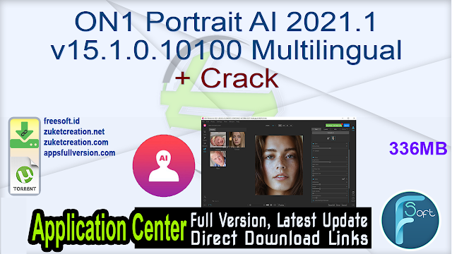 ON1 Portrait AI 2021.1 v15.1.0.10100 Multilingual + Crack
