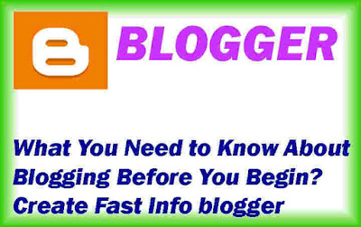 What You Need to Know About Blogging Before You Begin to Create Fast Info blogger
