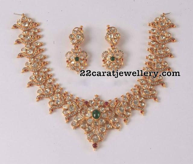 Peacock Floral Design Fabulous Necklace