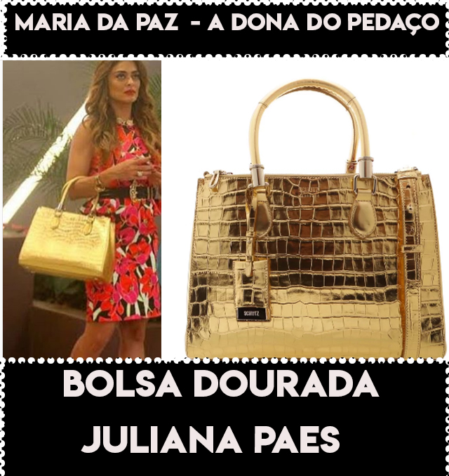 A bolsa dourada  da Juliana Paes, a Maria da Paz em A Dona do Pedaço