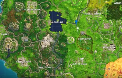 Battle Star Location, Fortnite, Season 5 Week 7, Dusty Divot