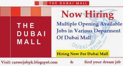 Emaar Dubai Mall Job Vacancy 2016