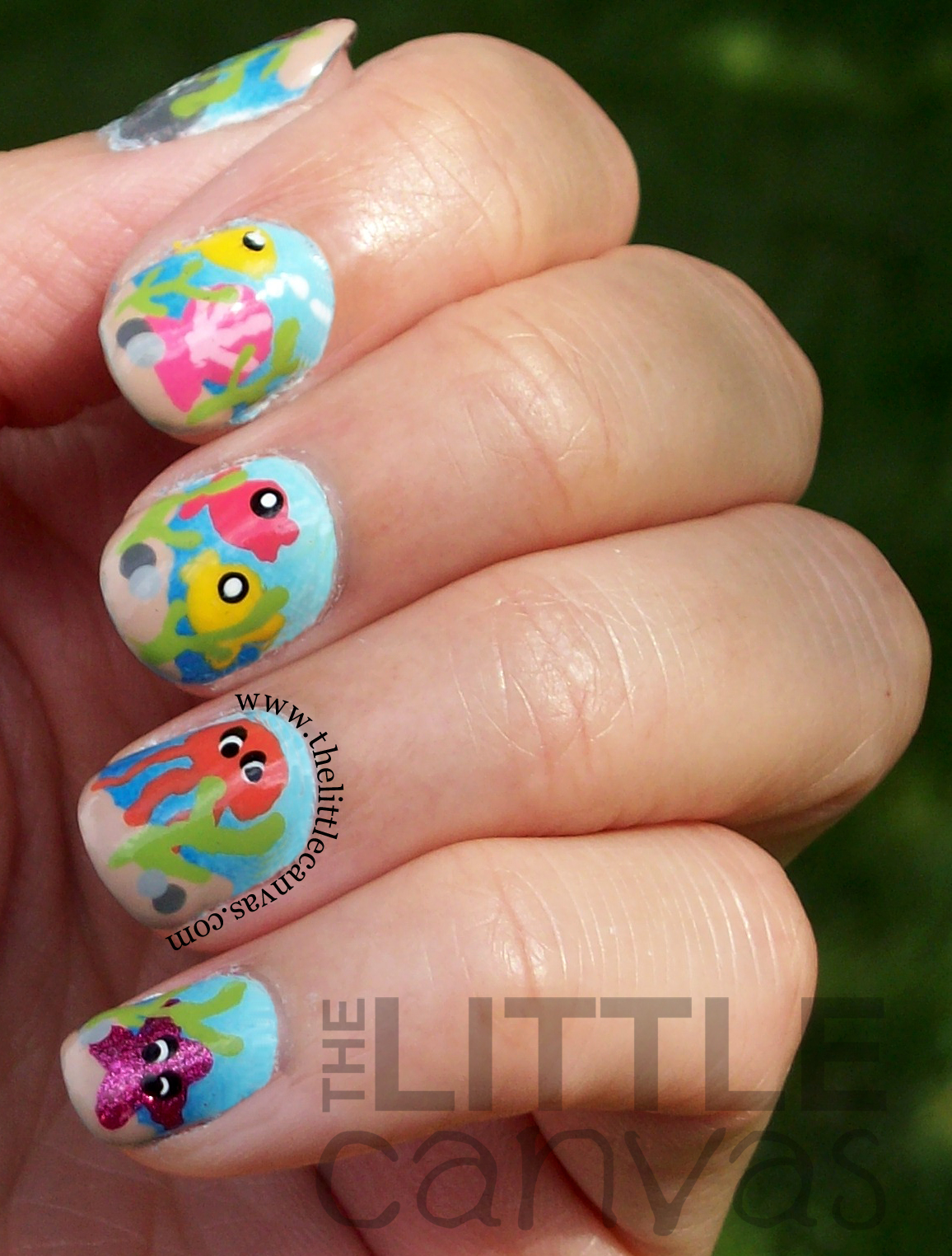 Under the Sea Nail Art - Take 2 - The Little Canvas