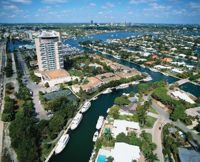 Cidade Fort Lauderdale na Flórida