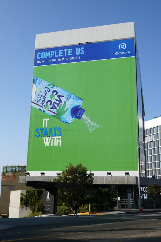 Complete us Vita Coco coconut water billboard