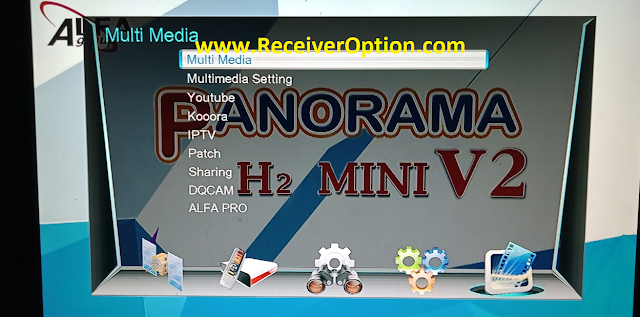 PANORAMA H2 MINI V2 1506T NEW SOFTWARE WITH KOOORA & DIRECT BISS KEY ADD OPTION