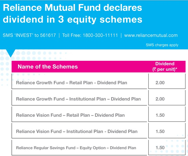 reliance mutual fund change of bank declaration form