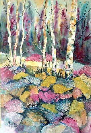 Martha Kisling Art With Heart Watercolor Collage