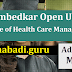 Dr BR Ambedkar Open University M.B.A (Hospital & Health Care Management) Admission Notification 2017