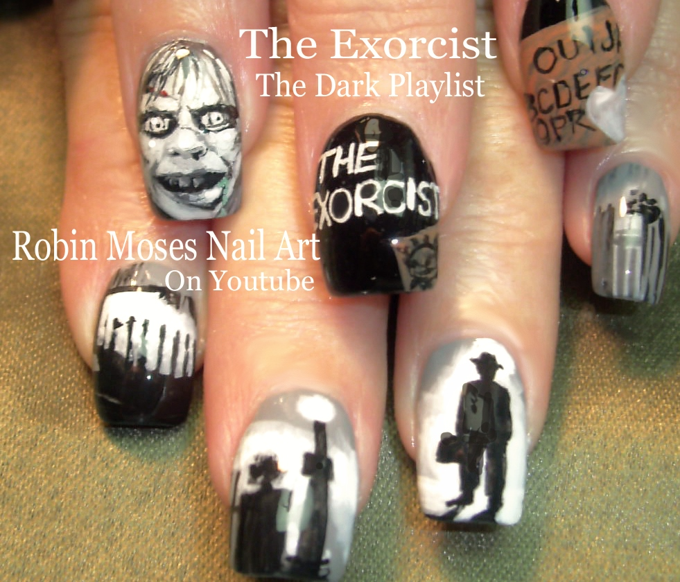 Nail Art by Robin Moses: HALLOWEEN MIKE MYERS Nail Art! \