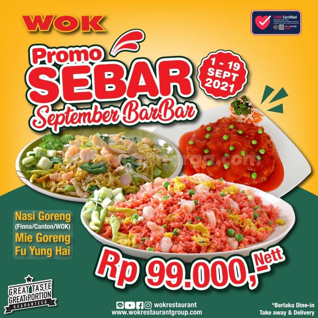 Promo WOK Restaurant Periode 1 - 19 September 2021
