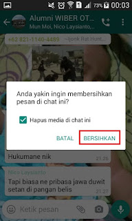 Cara Menghapus Percakapan Chat Di Grup Whatsapp