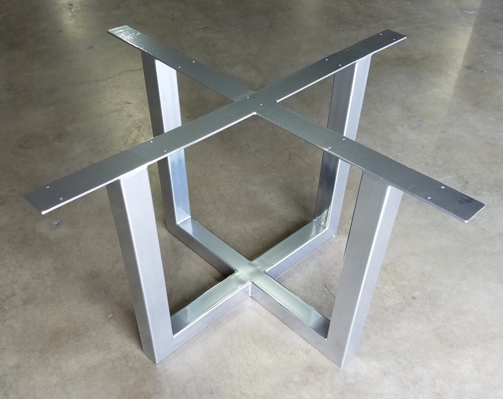 Shown here is our deacon table base in a chrome powder coat finish as always this base is offered in all sorts of finishes