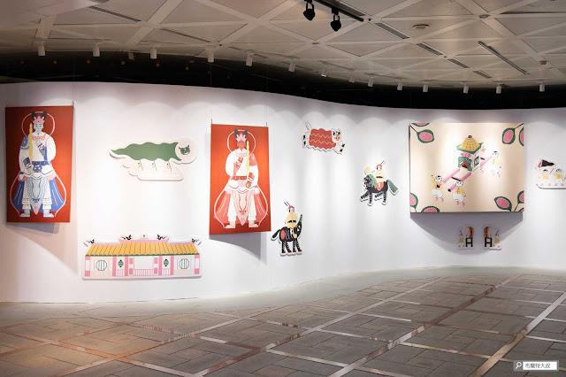 【大叔生活】龍山文創基地,台北市的文創新態度 - 無接縫牆上遍佈了龍山寺的在地風情