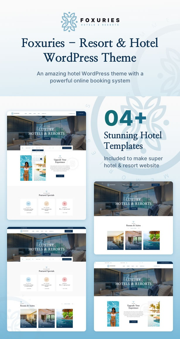 Resort & Hotel WordPress Template