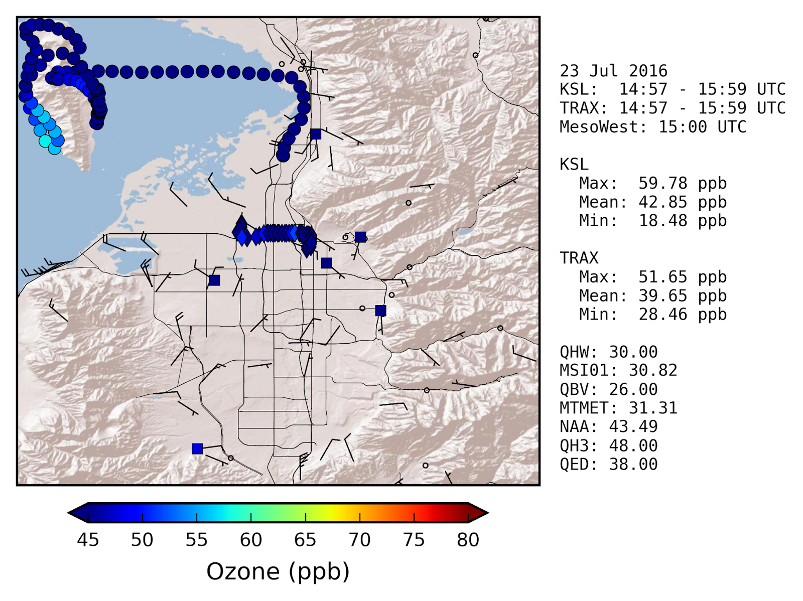 Ksl Weather Map.Brian Blaylock S Weather Blog Elevated Ozone Near Antelope Island