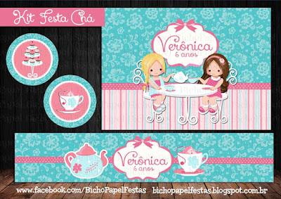 kit festa chá meninas