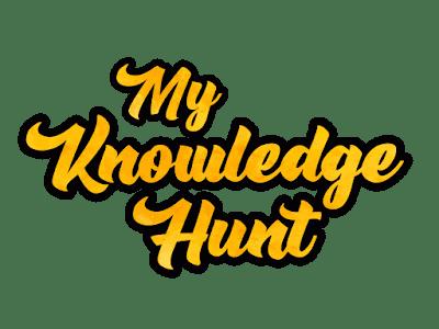 My Knowledge Hunt Typographic Logo