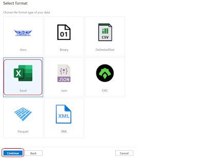 Excel format in Azure Blob Storage