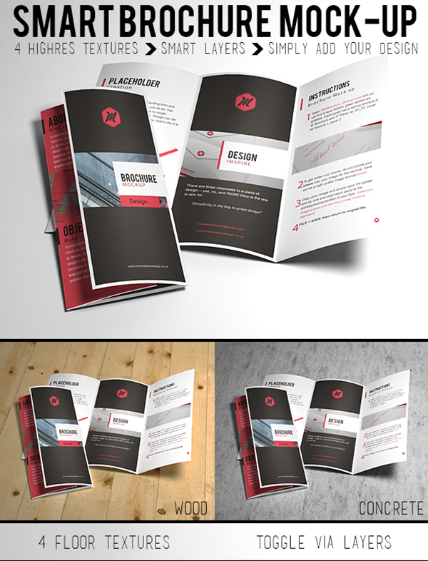 Download Gratis Mockup Majalah, Brosur, Buku, Cover - Free Brochure Mock-up