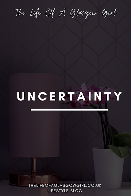 Pinterest image for Uncertainty blog post