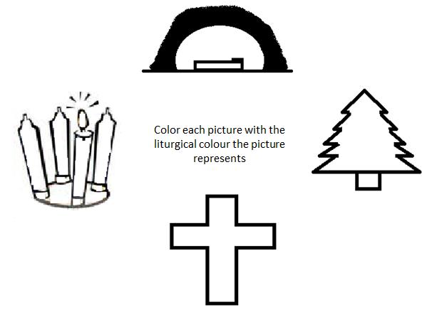 The Liturgical Seasons Liturgical Colours Worksheet