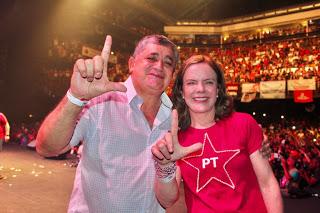 Guimarães e Gleisi Hoffmann participam de aniversário do PT em Quixadá nesta quinta (13)