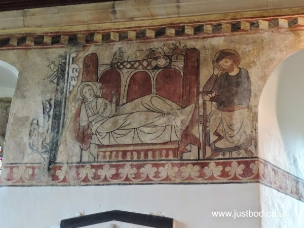 Medieval Wall Paintings, St Agatha's Church, Easby, Yorkshire