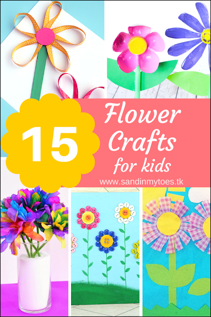 Fifteen cute and easy flower crafts to try with kids of all ages.