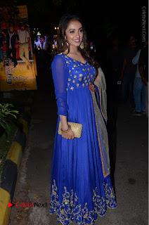 Telugu Actress Tejaswi Madivada Pos in Blue Long Dress at Nanna Nenu Na Boyfriends Audio Launch  0100.JPG