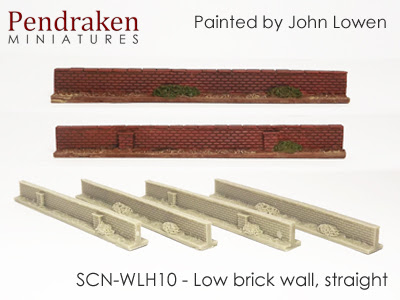 SCN-WLH10   Low brick walls, straight (4 pieces)