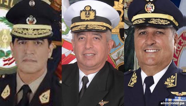 Nuevos Comandantes Generales de las Fuerzas Armadas del Perú