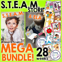 STEAM Stories contains Science, Technology, Engineering, Art, Math and ELA all together in one curriculum