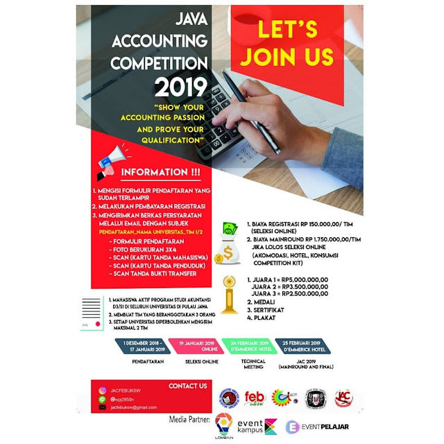 Lomba Java Accounting Competition (JAC) 2019 Mahasiswa