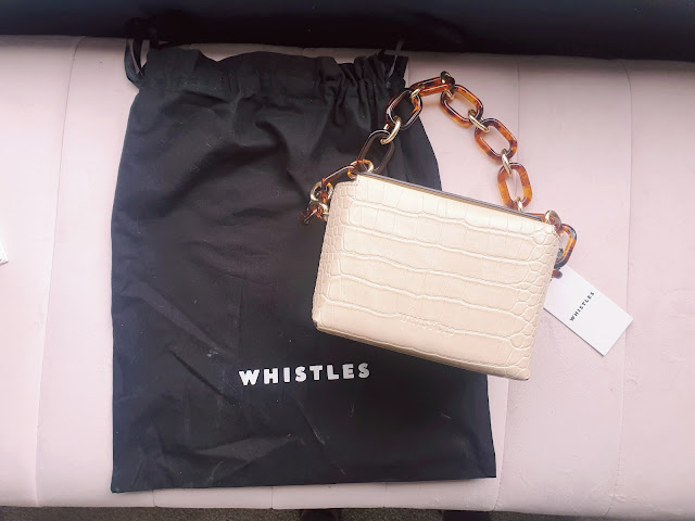 Whistles Bay Mini Crocodile Box Bag
