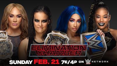 WWE Women's Tag Team Championship Match - WWE Elimination Chamber 2021