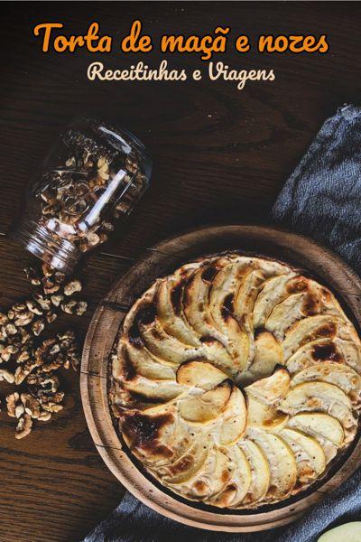 torta de maca e nozes #receita