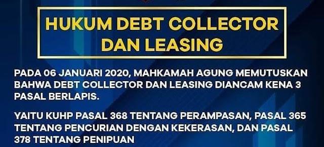 Keputusan Mahkamah Agung tentang Debt colector