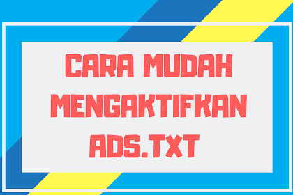 Cara Cepat Mengaktifkan Ads.txt Pada Blogger & Wordpress