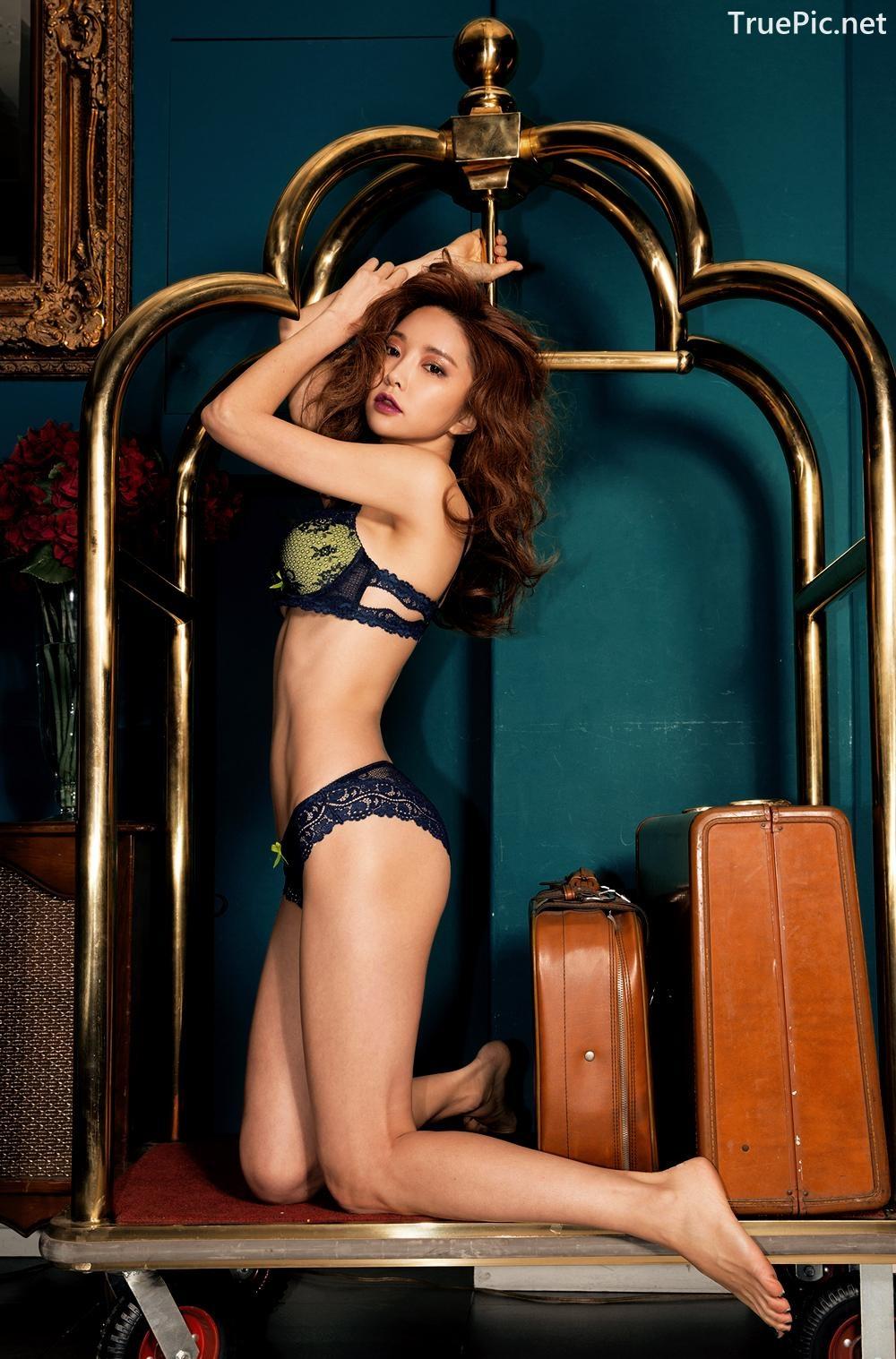 Image Korean Fashion Model - Park Soo Yeon - BVB Black Lace Lingerie - TruePic.net - Picture-9