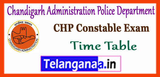 Chandigarh Administration Police Department Admit Card 2017 Time Table Syllabus