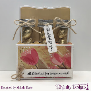 Divinity Designs Stamp Sets: Treat Tag Sentiments 2, Treat Tag Sentiments 3, Custom Dies, Test Tube Trio, Paper Collection: Beautiful Blooms, Small Test Tubes